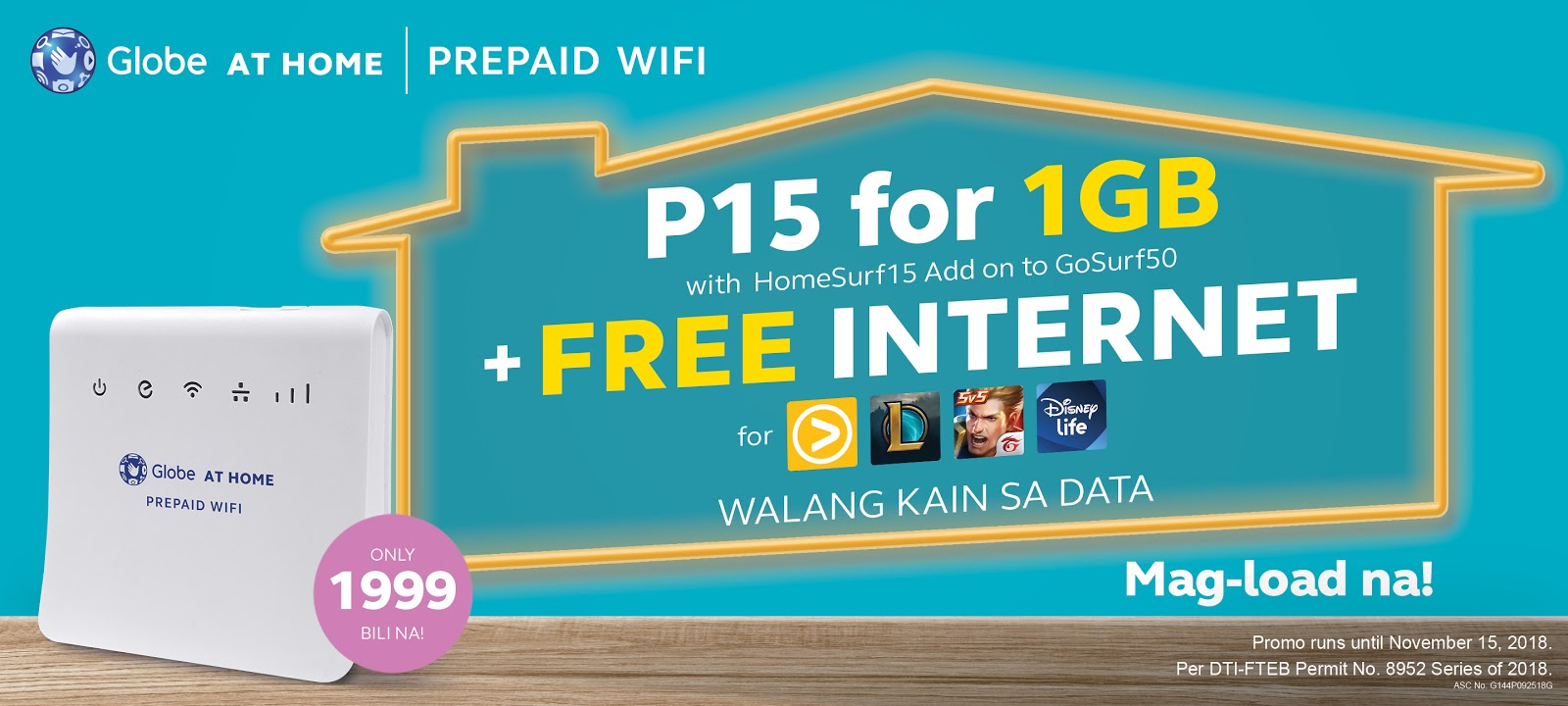 Get the lowdown on LOL with FREE INTERNET from Globe at Home Prepaid